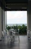 Restaurant avec la vue d'océan Images libres de droits