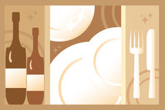 Restaurant background. Light brown and background for menu and restaurant Stock Images