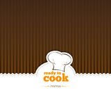 Restaurant background. Brown stripes on the floor Stock Photo