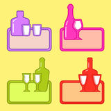 Restaurant background with alcohol beverage Royalty Free Stock Image