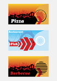 Restaurant banners Royalty Free Stock Photos