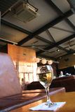 Restaurant and bar. Wine glass in a modern bar royalty free stock images