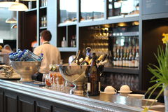 Restaurant, bar, dining out. Restaurant and a bar, dining out and drinks stock photography
