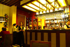 Restaurant bar in hotel Royalty Free Stock Image