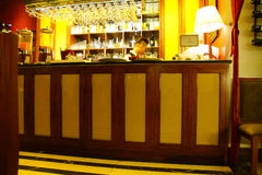 Restaurant bar in hotel Royalty Free Stock Photo