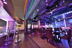 Restaurant and Bar interior design Royalty Free Stock Images