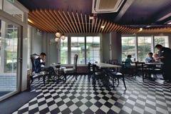 Restaurant and Bar interior design Stock Images