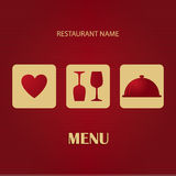 Restaurant and bar menu list. Royalty Free Stock Photography
