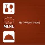 Restaurant and bar menu list. Royalty Free Stock Photos