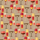 Restaurant or bar seamless pattern with different Royalty Free Stock Image