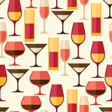 Restaurant or bar seamless pattern with different Stock Image
