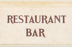 Restaurant bar sign Royalty Free Stock Images