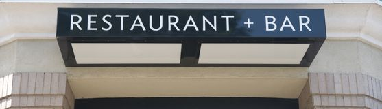 Restaurant and Bar Sign Royalty Free Stock Images