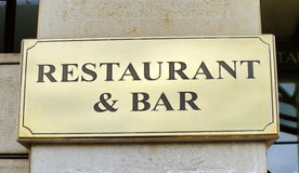 Restaurant and bar sign Royalty Free Stock Image