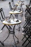 Restaurant bar terrace in Eixample district in Barcelona Catalon Stock Photo