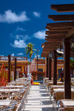 Restaurant in Baracoa. Chairs and tables in restaurant in Baracoa, Cuba Stock Photography