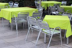 Restaurant in Barcelona Stock Photography