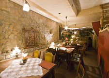 Restaurant in basement Stock Images