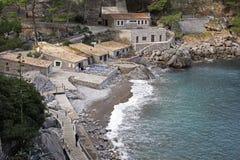 Restaurant in bay on Mallorca Royalty Free Stock Photos