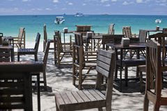 Restaurant on the beach. Royalty Free Stock Images