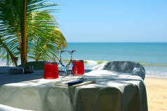 Restaurant on the beach Royalty Free Stock Photography