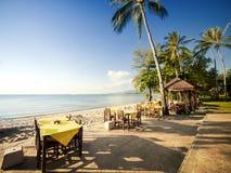 Restaurant on a beach Stock Photography