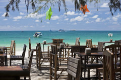 Restaurant on the beach. Royalty Free Stock Photos