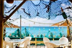 Restaurant at beach Royalty Free Stock Photo