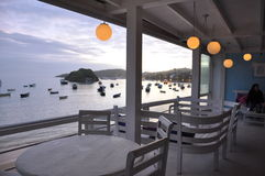 Restaurant at the beach. Restaurant at the beautiful brazilian beach Royalty Free Stock Photo