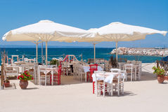 Restaurant on the beach Royalty Free Stock Image