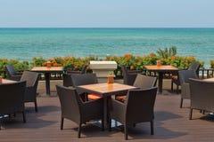 Restaurant on the beach Royalty Free Stock Photo