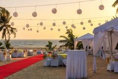 Restaurant on the beach. Stock Image