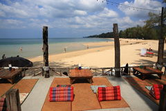 The restaurant on the beach, Phra Ae beach, Ko Lanta, Thailand Stock Photography