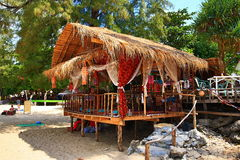 The restaurant on the beach, Phra Ae beach, Ko Lanta, Thailand Royalty Free Stock Photos