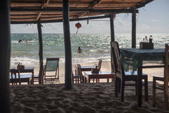 Restaurant on beach. Seashore restaurant in Vietnam, Phu Quoc Island Royalty Free Stock Images