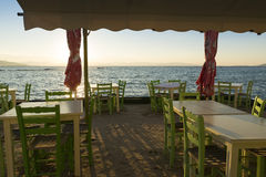 Restaurant on the beach Stock Photography