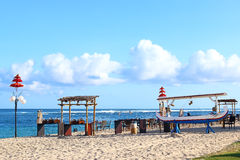 Restaurant on the beach waiting for visitors Royalty Free Stock Photo