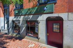 Restaurant on Beacon Hill Boston Massachusetts. Boston, Massachusetts, USA - September 12, 2016: A little restaurant on Beacon Hill in Boston, Massachusetts Royalty Free Stock Photo