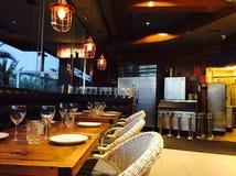 The restaurant. Beautiful and elegance interior design of restaurant Royalty Free Stock Photos