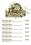 Restaurant beer menu Stock Image