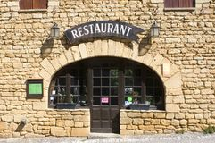 Restaurant Beynac Royalty Free Stock Photo