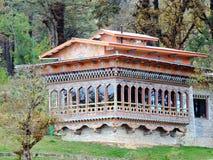 Restaurant bij Dochula-Pas, Bhutan stock afbeeldingen