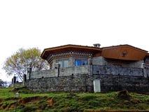 Restaurant bij Dochula-Pas, Bhutan royalty-vrije stock fotografie