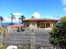 Restaurant bij Dochula-Pas, Bhutan royalty-vrije stock afbeeldingen