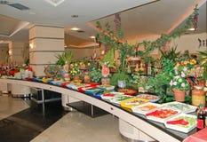 Restaurant bij hotel Royalty-vrije Stock Afbeeldingen