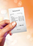 Restaurant bill Royalty Free Stock Photos