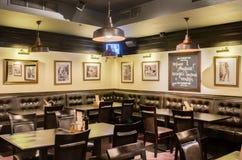 Restaurant binnenlands schot Royalty-vrije Stock Foto