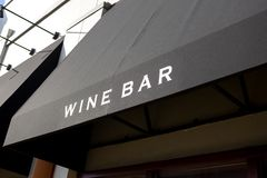 A wine bar sign stock photo