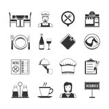 Restaurant Black Icons Stock Photo