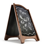 Restaurant blackboard display isolated Stock Photo